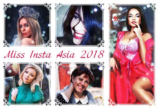Schöne Gewinnerinnen des Wettbewerbs Miss Insta Asien 2018